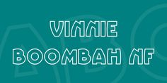 Download Vinnie BoomBah NF Font · Free for commercial use · A round, rollicking fun outline font, based on 1950 poster lettering for Cinzano Spumante by Nico Eder. Named after Rodney Daingerfield's fictitious a Outline, Commercial, Font Free, Names, Lettering, Poster, Drawing Letters, Billboard