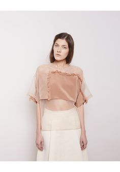 I just might need to own this 3.1 Phillip Lim  Organza Fringe Blouse  La Garconne