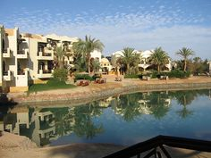 Only in EL Gouna you can rest your eyes on such beauty - Photo taken from the terrace at Dawar el Omda Boutique Hotel - El Gouna  Book your hotel with Santa Claus Travel Egypt  reservation@santaclaustravel.com
