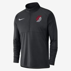 cc3fb6cd6d7f Nike Men s 1 2-Zip Long-Sleeve NBA Top Portland Trail Blazers Dri
