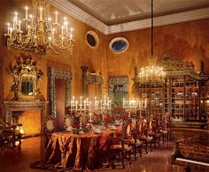 Decadent dining rooms.......come take a seat. Au Revoir! - The Enchanted Home