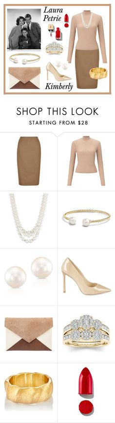 """Laura Petrie"" by kimmie-plus2 on Polyvore featuring Hobbs, Miss Selfridge, Anne Klein, David Yurman, Anne Sisteron, Jimmy Choo, Modern Bride, Malcolm Betts and Rodin"