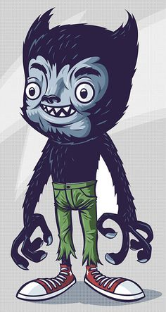 Monster Illustrations. My granddaughter loves talking about monsters like they are her funny friends. We have curious conversations that are sort of thrilling.