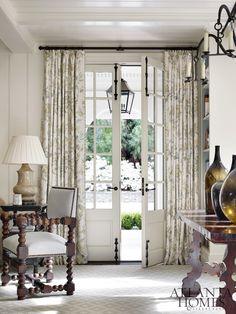 Window Treatment Ideas For Doors Tiered Roman Shade On