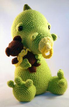 Little babydragon amigurumi crochet pattern by Pii_Chii