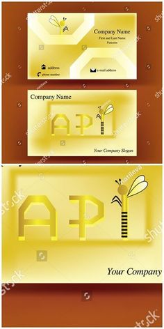 with API design, referring to the word apiculture, having the I letter resembling an on brown background - by alekxaphotoart on Company Slogans, Company Names, Lettering Design, Logo Design, Phone Companies, Graphic Design Illustration, New Pictures, Royalty Free Photos, Business Cards