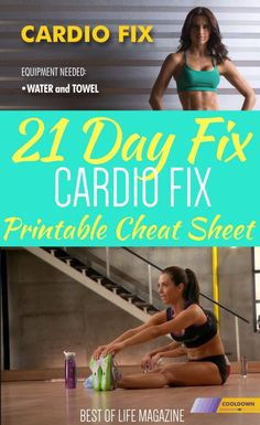 Take your 21 Day Fix workout with you wherever you go with this printable 21 Day Fix Cardio Fix cheat sheet that is complete with workout moves and timing. 21 Day Fix Workouts No Excuses Workout, Workout Schedule, Workout Challenge, 21 Day Fix Workouts, Easy Workouts, At Home Workouts, Workout Sheets, Best At Home Workout, Printable Workouts