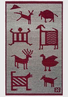 Kachina Village - x Artist: Connie Enzmann-Forneris Tapestry Loom, Small Tapestry, Navajo Weaving, Hand Weaving, Weaving Designs, Baby Quilt Patterns, Weaving Textiles, Wool Carpet, Tribal Art