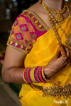 Blouses are the heart of your wedding attire, so here's a board completely dedicated to wedding saree blouses for you to take inspiration! Source by Cutwork Blouse Designs, Wedding Saree Blouse Designs, Pattu Saree Blouse Designs, Simple Blouse Designs, Blouse Neck Designs, Wedding Sarees, Wedding Blouses, Simple Designs, Sari Bluse