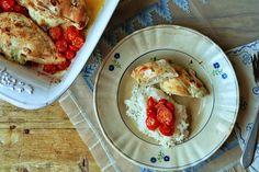 Hoje para jantar ...: Peitinhos de frango recheados com queijo e manjericão