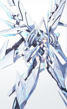Saijaku muhai no Bahamut- Krulcifer Einfolk I Love Anime, All Anime, Anime Art, Sci Fi Anime, Mecha Anime, Loli Kawaii, Kawaii Anime, Anime Angel, Gundam