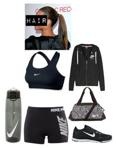 """WORKOUT"" by tryn11 ❤ liked on Polyvore featuring NIKE"