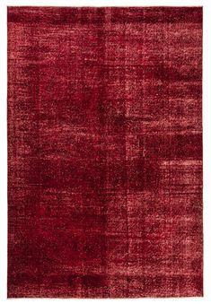 red rug overdyed rug large area rug valentines day gift