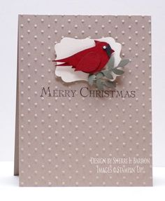 Stampin' Up!  Bird Punch  Sherri Barron  Cardinal