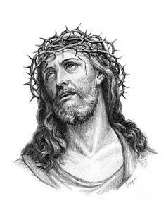 Jesus Christ Drawing - Crown Of Thorns by Christopher Panza