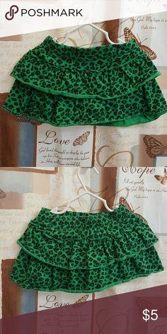 Garanimals skirt Cute green and black leopard print skirt with shorts attached. Garanimals Bottoms Skirts