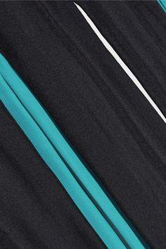 Diane von Furstenberg - Melita Pleated Silk-blend Skirt - Midnight blue - US14