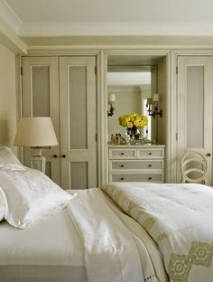 South Shore Decorating Blog: Weekend Roomspiration_2 tone paint on closets