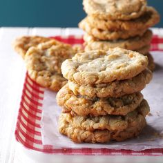 Grandma Krauses' Coconut Cookies Recipe -When my two daughters were young, their great-grandma made them cookies with oats and coconut. Thankfully, she shared the recipe.—Debra Dorn, Homosassa, Florida (best christmas cookies to freeze) Coco Cookies, Oatmeal Cookies, Cookies Et Biscuits, Yummy Cookies, Sugar Cookies Recipe, Secret Cookie Recipe, Baking Recipes, Cookie Recipes, Coconut Recipes