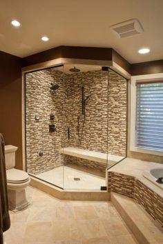 Simple Bathroom All Tile | Big Bathrooms