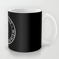 BAUHAUS LOGO / BLACK Mug by THE USUAL DESIGNERS - $15.00
