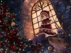 84 Best Christmas Anime Images Anime Art Anime Girls Art Of