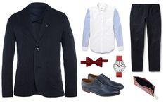 Wśród najmodniejszych kolorów króluje #marsala, ale na sklepowych półkach znajdziemy również inne odcienie brązu oraz niebieskiego. Sportowa elegancja idealnie sprawdzi się zarówno przy okazji  biznesowego lunchu, jak i bardziej formalnego spotkania.   Stylizacja: Marynarka i spodnie - Folk Koszula -  Wooster + Lardini Buty - Conhpol Muszka - Turnbull&Asser Zegarek - Mondaine Portfel - Loewe