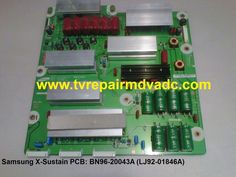 Samsung TV PN59D530A3FXZA. X-sustain board: BN96-20043A / Troubleshooting Tip #Samsung