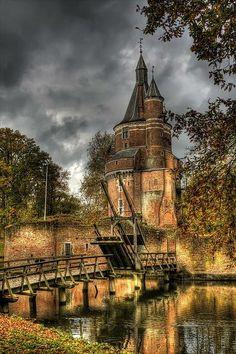 Castle Duurstede, a medieval castle in Wijk bij Duurstede in the province of Utrecht in the Netherlands
