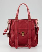 red totes-proenza schouler ps1 small leather tote bag red