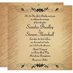 Rustic Country Wedding Invitation - wedding invitations cards custom invitation card design marriage party