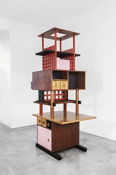 Ettore Sottsass | Tower Furniture for the House with the Little Chinese Girl, Mario Tchou Residence, Milan | The Met