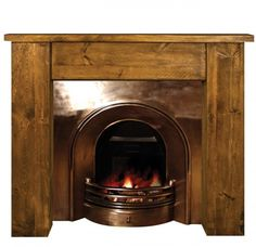 This beautiful timber fireplace #mantel would match any fieldstone ...