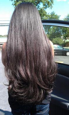 long darker hair