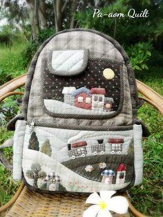 Baby Backpack, Bag Pack, Key Covers, Herschel Heritage Backpack, Beautiful Bags, Appliques, Quilting, Wallet, Handmade