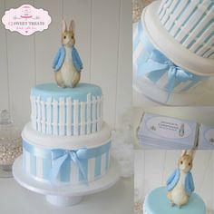 Peter Rabbit Christening Cake - by cjsweettreats @ CakesDecor.com - cake decorating website