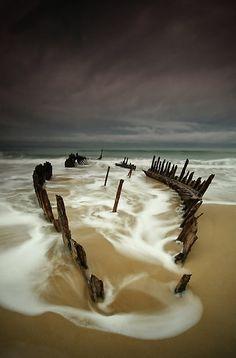 Ship Wreck. Dicky Beach, Queensland. Australia