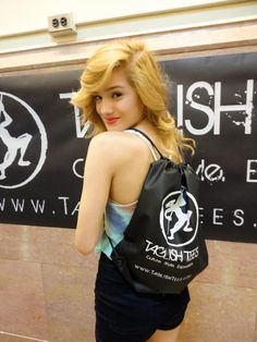 Chachi Gonzales of I.aM.mE. crew, winners of ABDC season 6 picking up some Taglish Tees gear at WOD NY 2012