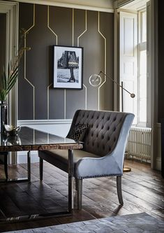 A stunning piece that combines modern design and vintage elegance, the Ophelia button back bench is a beautiful addition to both contemporary and traditional dining areas. Luxurious velvet upholstery provides plush texture and stylish appeal, whilst a foam cushioned seat offers lasting comfort through mealtimes and entertaining.