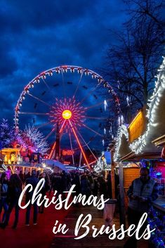 The Brussels Christmas market is among the best Christmas markets in  Europe with light shows, concerts, and hundreds of food, drink,  and gift vendors.