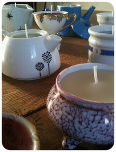 Upcycling candles