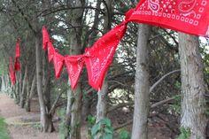 bandanna garland - love it