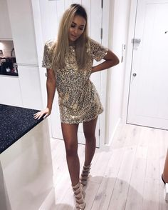 """28.8k Likes, 326 Comments - Sarah Ashcroft (@sarahhashcroft) on Instagram: """"@inthestyleuk sequins this t-shirt dress is a BEAUT! Definitely a NYE contender …"""""""