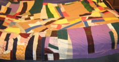 Vintage Handmade Colorful Patchwork by UnexpectingItems on Etsy, $55.50