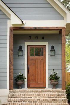 Craftsman Farmhouse, Modern Craftsman, Modern Farmhouse Exterior, Craftsman Style Homes, Farmhouse Design, Farmhouse Front, Farmhouse Style, Farmhouse Ideas, Craftsman Porch