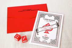 playing card invites