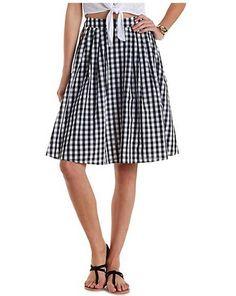 Trends for Spring: Midi Skirts Under $50: Gingham Midi Skirt