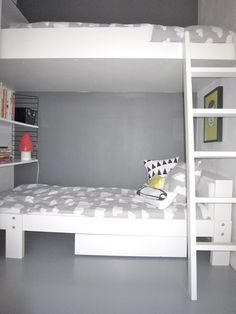 Cool #kids' room  #grey