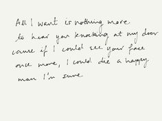 All I want // Kodaline..just once more~S