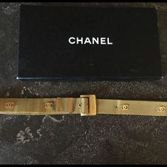 Chanel belt Authentic Chanel Belt. Gently used. Made of gold metal. Classic peace. Vintage. CHANEL Accessories Belts